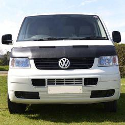VW T5 Transporter & Caravelle Bonnet Bra - Black (2003-2009)