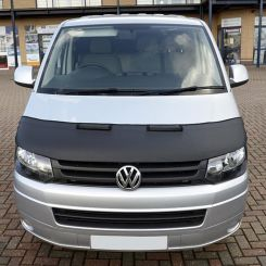 VW T5 Transporter & Caravelle Bonnet Bra (Half Bonnet) - Black (2009-2015)