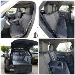 Land Rover Discovery 5 Quilted Boot Liner PLUS Front & Rear Seat Covers - Black (2017 Onwards)