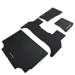 Land Rover Defender Front & Rear & Boot Heavy Duty Custom Fit Rubber Floor Mats - Black (2020 Onwards)
