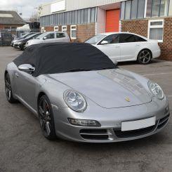 Porsche 911 996 997 Tailored Half Cover - Black (1999-2012)