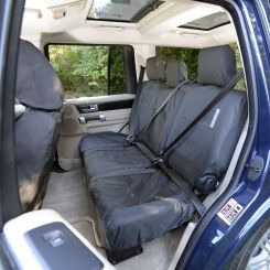 Land Rover Discovery 3 Tailored Rear Seat Covers - Black (2004-2009)