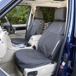 Land Rover Discovery 3 Tailored Front Seat Covers - Black (2004-2009)