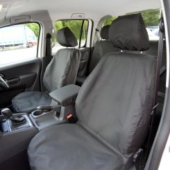 VW Amarok Tailored Front Seat Covers - Black (2011 Onwards)