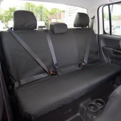 VW Amarok Tailored Rear Seat Covers - Black (2011 Onwards)