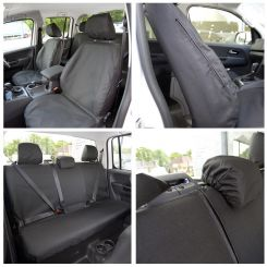 VW Amarok Tailored Front and Rear Seat Covers - Black (2011 Onwards)