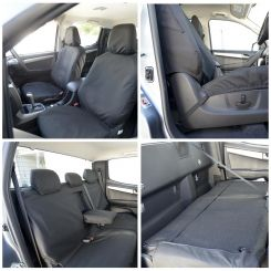 Isuzu D Max Tailored Front and Rear Seat Covers - Black (2012 Onwards)