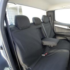 Isuzu D Max Tailored Rear Seat Covers - Black (2012 Onwards)