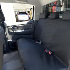Toyota Hilux Tailored Rear Seat Covers - Black (2005-2016)