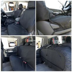 Toyota Hilux Tailored Front & Rear Seat Covers - Black (2005-2016)
