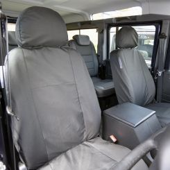 Land Rover Defender Tailored Front Seat Covers - Black (2007 - 2019)