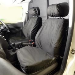 VW Caddy Tailored Front Seat Covers - Black (2004 Onwards)