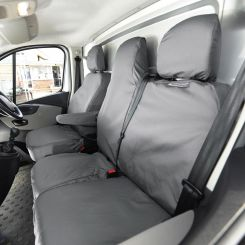 Renault Trafic Sport (Business Plus) Tailored Front Seat Covers - Grey (2013 Onwards)