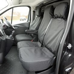 Nissan NV300 Tailored Front Seat Covers - Black (2016 Onwards)