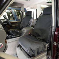 Land Rover Discovery 2 TD5 Tailored Front Seat Covers - Black (1999-2004)