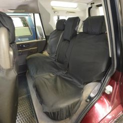 Land Rover Discovery 2 TD5 Tailored Rear Seat Covers - Black (1999-2004)