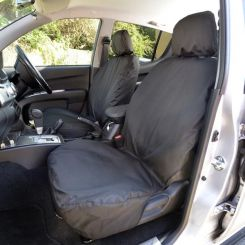 Mitsubishi L200 Tailored Front Seat Covers - Black (2006-2015)