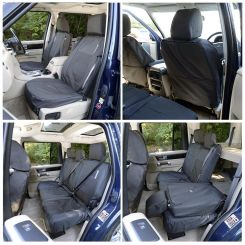 Land Rover Discovery 3 Tailored Front & Rear Seat Covers - Black (2004-2009)