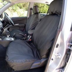 Mitsubishi L200 Tailored Front Seat Covers - Black (2015 Onwards)
