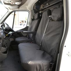 Renault Master Van Tailored Front Seat Covers - Black (2010 Onwards)