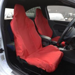 Ford Focus RS Recaro Single Seat Covers x2 - Red (2011 Onwards)