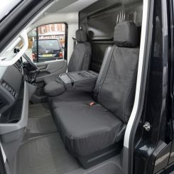 VW Crafter Van - Tailored Front Seat Covers - Black (2017 Onwards)