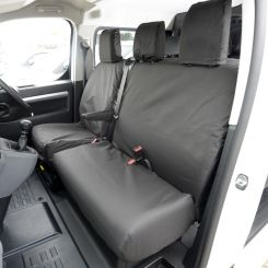 Citroen Dispatch Tailored Front Seat Covers - Black (2016 Onwards)