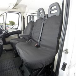 Peugeot Boxer Tailored Front Seat Covers - Black (2006 Onwards)