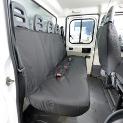 Peugeot Boxer Tailored Rear Seat Covers - Black (2006 Onwards)