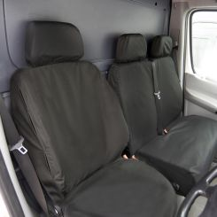 Mercedes Sprinter Van Tailored Front Seat Covers - Black (2018 Onwards)